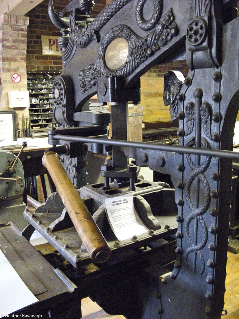 Columbian Press, The Print Shop, Milton Keynes Museum