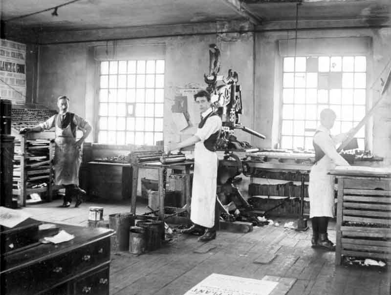 Columbian Press (pictured in 1910) (from Kirklees Images)