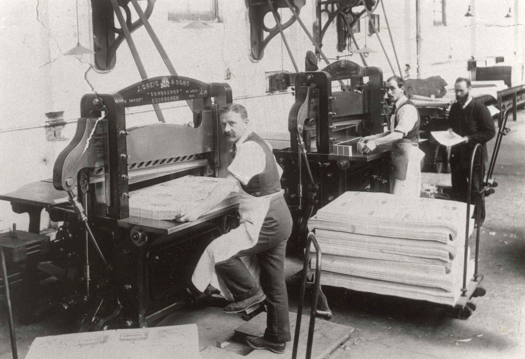 Cutting at Smith & Ritchie (from Edinburgh City of Print)