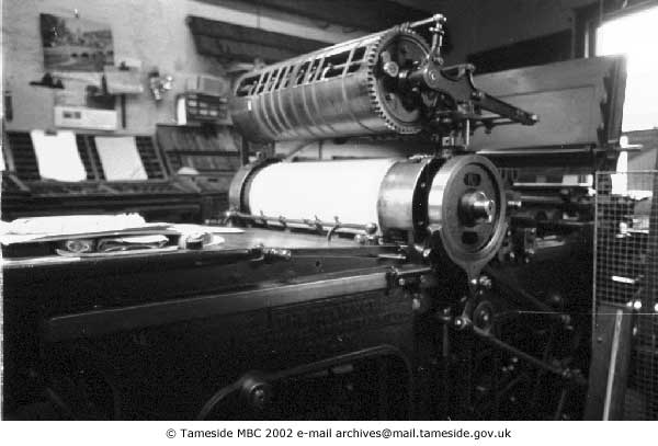 Wharfedale Press at Greenups Printers (from Tameside Images)