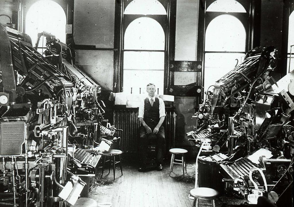 Linotype Machines (from Edinburgh City of Print)
