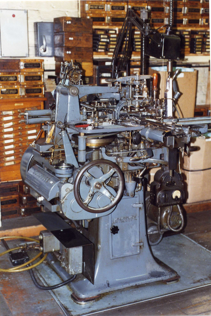 Monotype Casting Machine at Speedspools (from Edinburgh City of Print)